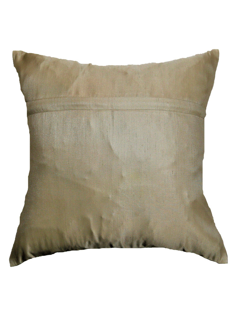 (Beige)Embroidery- Polyester Cushion Cover