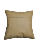 (Beige)Embroidery- Leather Cushion Cover