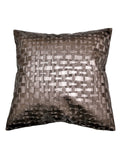 (Copper)Self Design- Leather Cushion Cover