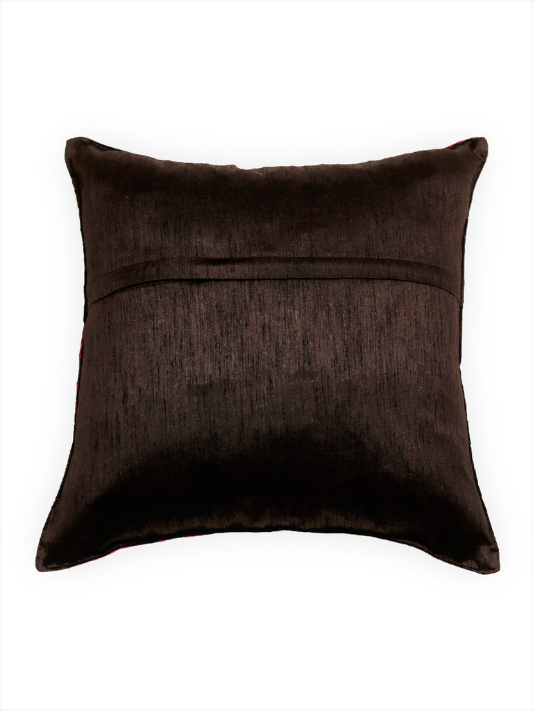 (Brown)Embroidery- Polyester Cushion Cover