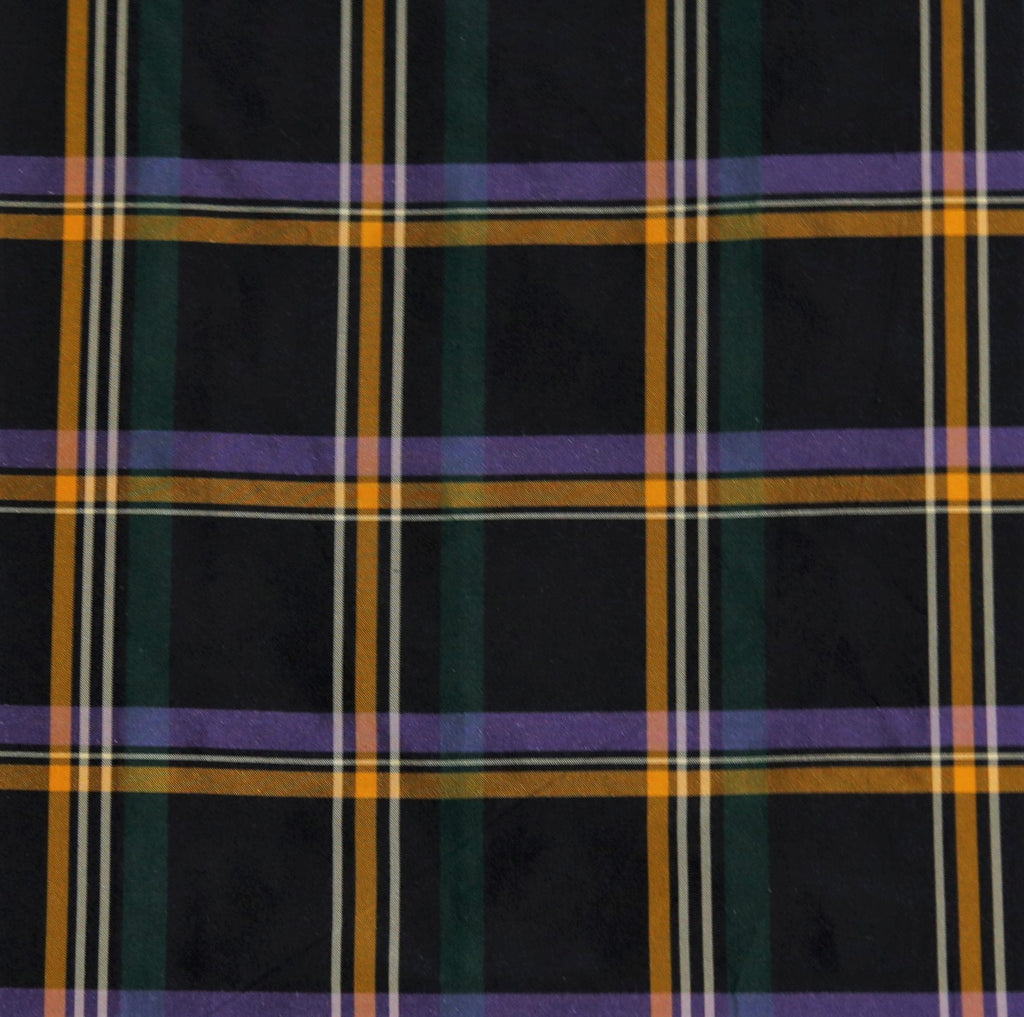 Tafeta Check Upholstery Fabric Silk (Multi)-Rs. 1450 per mtr