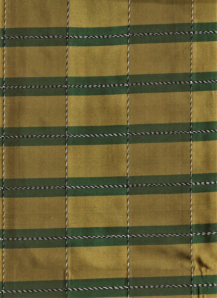 Firenze Rib Upholstery Fabric Silk (Green/Gold)-Rs. 1150 per mtr