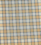Zena Check Upholstery Fabric Silk (Cream)-Rs. 950 per mtr