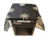 Patch Work (40 X 40 Inch) Table Cover(Black)-Organza