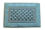 (Blue) Brocade Table Mat-Poly Silk(6 PCS Set)