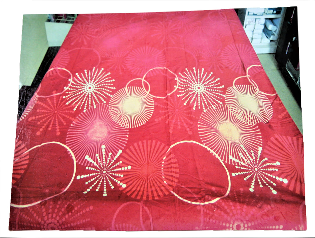 Printed (Red) Cotton Duvet Cover(90 X 100 Inch)