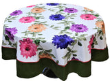 Printed(72 Inch) Round Table Cover(Multi)-PolyCotton