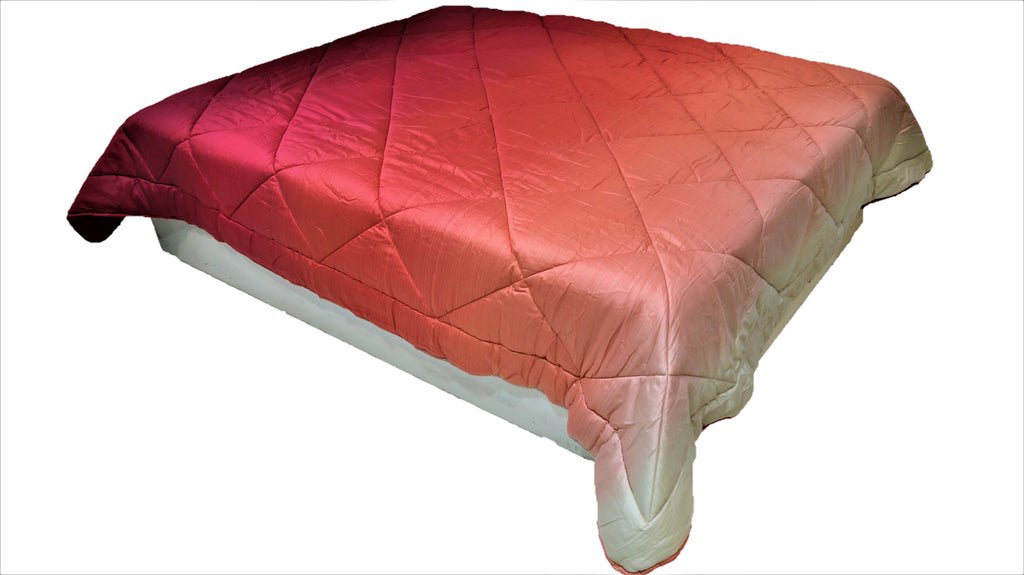 Double Shade(Pink) PolyCotton Quilt (90x100 Inch)-300 GSM