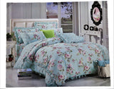 Printed (Green) Cotton Duvet Cover(60 X 90 Inch)-2 Pcs Set