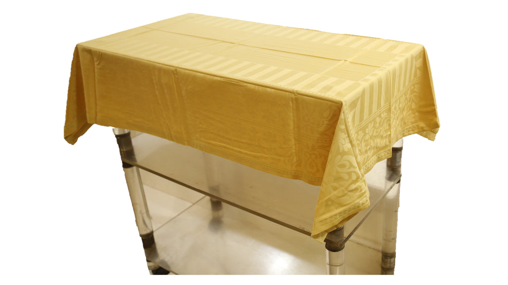 Self Design (36 X 54 Inch) Table Cover(Golden)-Cotton