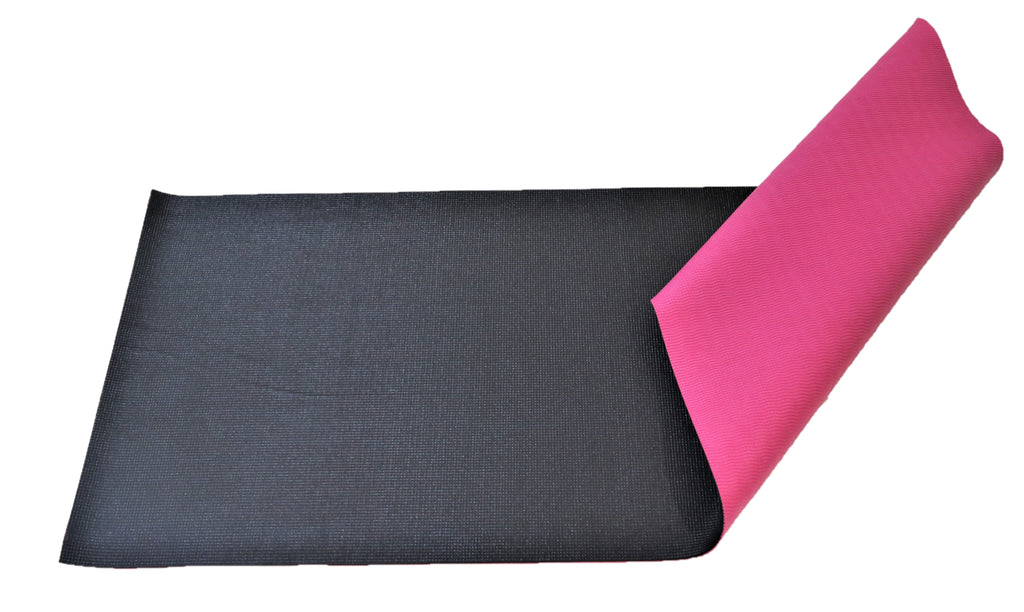 Obsessions-(Pink/Black) Modern Rubberize Yoga Mat(6mm)