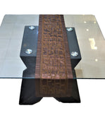 Sequence work Table Runner(Brown)-Polyester