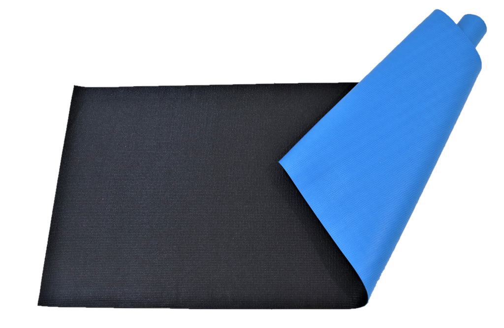 Obsessions-(Turquoise/Black) Modern Rubberize Yoga Mat(6mm)