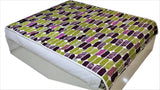 Printed(Purple/Green) Cotton Quilt (60x90 Inch)-200 GSM