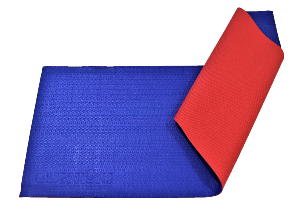 Obsessions-(Red/Blue) Modern Rubberize Yoga Mat(6mm)