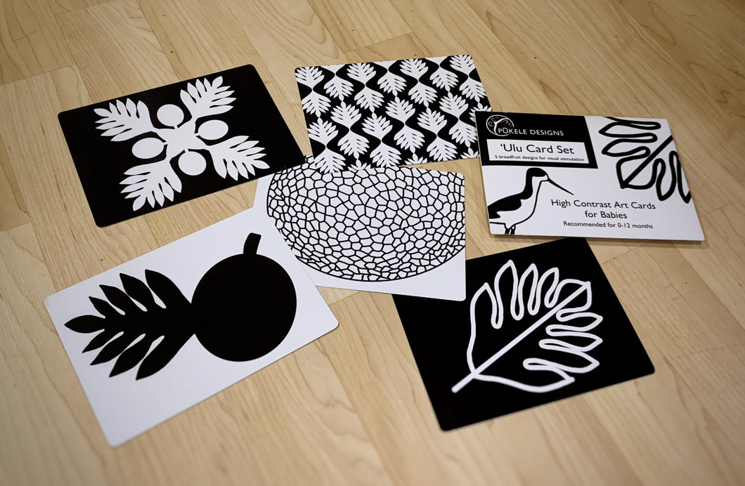 'Ulu (Breadfruit) High Contrast Art Cards for Babies