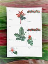 Load image into Gallery viewer, Native Plants Holiday Gift Tag Stickers