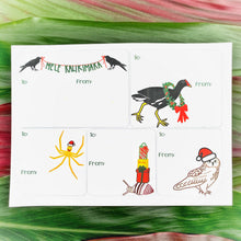 Load image into Gallery viewer, Native Animals Holiday Gift Tag Stickers
