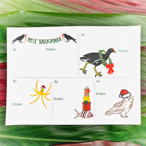 Native Animals Holiday Gift Tag Stickers