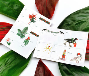 Native Plants Holiday Gift Tag Stickers