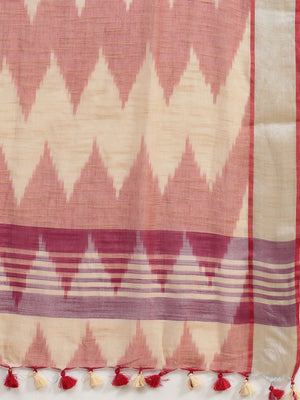 Linen Handwoven Saree and Blouse-Saree-Kalakari India-ALBGSA0041-Hand Woven, Linen, Sarees, Sustainable Fabrics, Traditional Weave-[Linen,Ethnic,wear,Fashionista,Handloom,Handicraft,Indigo,blockprint,block,print,Cotton,Chanderi,Blue, latest,classy,party,bollywood,trendy,summer,style,traditional,formal,elegant,unique,style,hand,block,print, dabu,booti,gift,present,glamorous,affordable,collectible,Sari,Saree,printed, holi, Diwali, birthday, anniversary, sustainable, organic, scarf, online, low pri