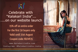 KILIVE15-Discount-Kalakari India-discount-[Linen,Ethnic,wear,Fashionista,Handloom,Handicraft,Indigo,blockprint,block,print,Cotton,Chanderi,Blue, latest,classy,party,bollywood,trendy,summer,style,traditional,formal,elegant,unique,style,hand,block,print, dabu,booti,gift,present,glamorous,affordable,collectible,Sari,Saree,printed, holi, Diwali, birthday, anniversary, sustainable, organic, scarf, online, low price, discount, Indian saree, Indian sari]-Kalakari India