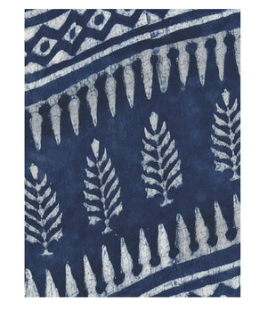Indigo Dabu Hand Block Print Handcrafted Cotton Saree-Saree-Kalakari India-BAPASA0016-Cotton, Dabu, Geographical Indication, Hand Blocks, Hand Crafted, Heritage Prints, Indigo, Natural Dyes, Sarees, Sustainable Fabrics-[Linen,Ethnic,wear,Fashionista,Handloom,Handicraft,Indigo,blockprint,block,print,Cotton,Chanderi,Blue, latest,classy,party,bollywood,trendy,summer,style,traditional,formal,elegant,unique,style,hand,block,print, dabu,booti,gift,present,glamorous,affordable,collectible,Sari,Saree,pr