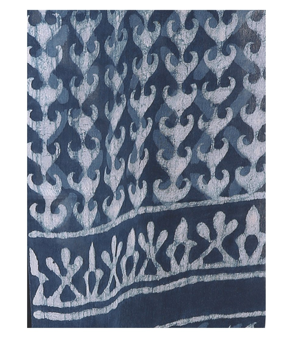 Indigo Dabu Hand Block Print Handcrafted Cotton Saree-Saree-Kalakari India-BAPASA0002-Cotton, Dabu, Geographical Indication, Hand Blocks, Hand Crafted, Heritage Prints, Indigo, Natural Dyes, Sarees, Sustainable Fabrics-[Linen,Ethnic,wear,Fashionista,Handloom,Handicraft,Indigo,blockprint,block,print,Cotton,Chanderi,Blue, latest,classy,party,bollywood,trendy,summer,style,traditional,formal,elegant,unique,style,hand,block,print, dabu,booti,gift,present,glamorous,affordable,collectible,Sari,Saree,pr