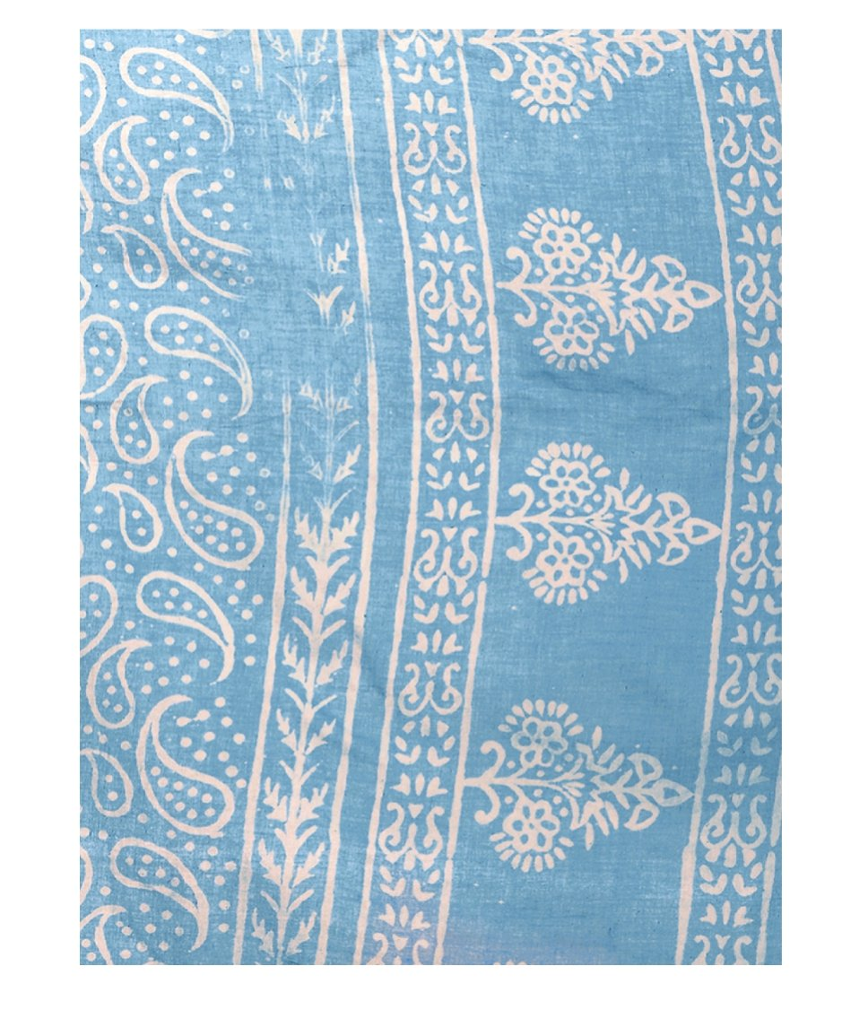 Blue Dabu Hand Block Print Handcrafted Cotton Saree-Saree-Kalakari India-BAPASA0032-Cotton, Dabu, Geographical Indication, Hand Blocks, Hand Crafted, Heritage Prints, Sarees, Sustainable Fabrics-[Linen,Ethnic,wear,Fashionista,Handloom,Handicraft,Indigo,blockprint,block,print,Cotton,Chanderi,Blue, latest,classy,party,bollywood,trendy,summer,style,traditional,formal,elegant,unique,style,hand,block,print, dabu,booti,gift,present,glamorous,affordable,collectible,Sari,Saree,printed, holi, Diwali, bir