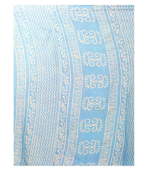 Blue Dabu Hand Block Print Handcrafted Cotton Saree-Saree-Kalakari India-BAPASA0048-Cotton, Dabu, Geographical Indication, Hand Blocks, Hand Crafted, Heritage Prints, Sarees, Sustainable Fabrics-[Linen,Ethnic,wear,Fashionista,Handloom,Handicraft,Indigo,blockprint,block,print,Cotton,Chanderi,Blue, latest,classy,party,bollywood,trendy,summer,style,traditional,formal,elegant,unique,style,hand,block,print, dabu,booti,gift,present,glamorous,affordable,collectible,Sari,Saree,printed, holi, Diwali, bir