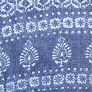 Blue & White Indigo Hand Block Print Handcrafted Cotton Saree-Saree-Kalakari India-BAPASA0081-Cotton, Dabu, Geographical Indication, Hand Blocks, Hand Crafted, Heritage Prints, Indigo, Natural Dyes, Sarees, Sustainable Fabrics-[Linen,Ethnic,wear,Fashionista,Handloom,Handicraft,Indigo,blockprint,block,print,Cotton,Chanderi,Blue, latest,classy,party,bollywood,trendy,summer,style,traditional,formal,elegant,unique,style,hand,block,print, dabu,booti,gift,present,glamorous,affordable,collectible,Sari,