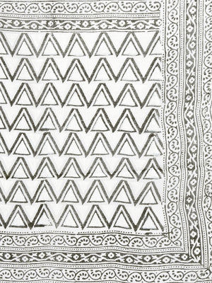 White & Black Hand block Print Handcrafted Cotton Saree-Saree-Kalakari India-BAPASA0090-Cotton, Dabu, Geographical Indication, Hand Blocks, Hand Crafted, Heritage Prints, Sarees, Sustainable Fabrics-[Linen,Ethnic,wear,Fashionista,Handloom,Handicraft,Indigo,blockprint,block,print,Cotton,Chanderi,Blue, latest,classy,party,bollywood,trendy,summer,style,traditional,formal,elegant,unique,style,hand,block,print, dabu,booti,gift,present,glamorous,affordable,collectible,Sari,Saree,printed, holi, Diwali,