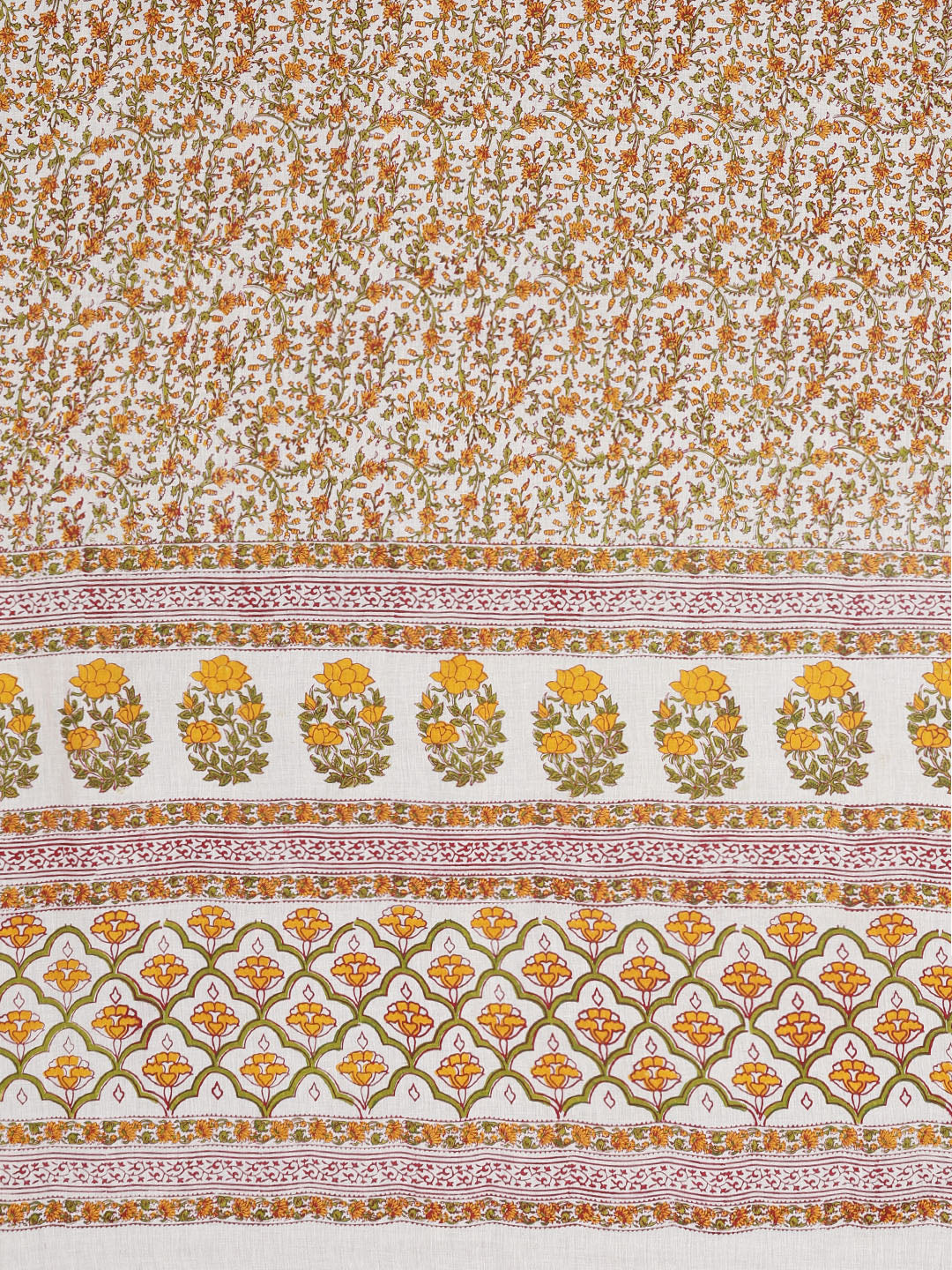 Beige & Yellow Hand Block Print Handcrafted Cotton Saree-Saree-Kalakari India-BAPASA0091-Cotton, Dabu, Geographical Indication, Hand Blocks, Hand Crafted, Heritage Prints, Sarees, Sustainable Fabrics-[Linen,Ethnic,wear,Fashionista,Handloom,Handicraft,Indigo,blockprint,block,print,Cotton,Chanderi,Blue, latest,classy,party,bollywood,trendy,summer,style,traditional,formal,elegant,unique,style,hand,block,print, dabu,booti,gift,present,glamorous,affordable,collectible,Sari,Saree,printed, holi, Diwali