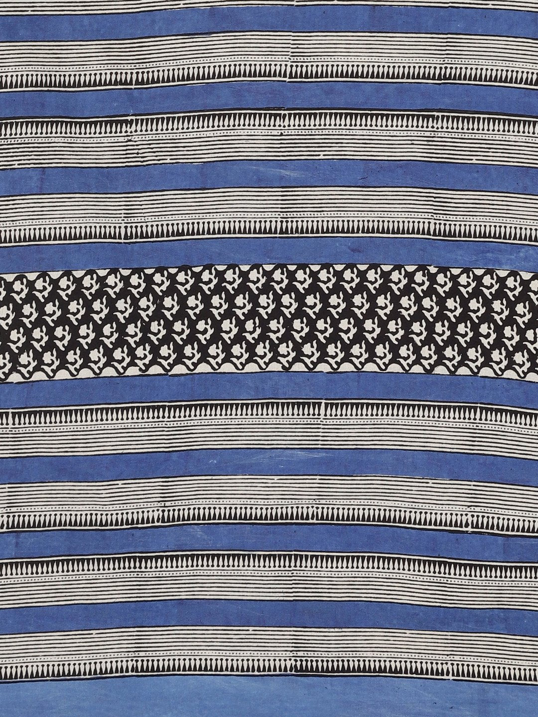 Blue & Grey Mud Resist Handblock Print Handcrafted Cotton Saree-Saree-Kalakari India-BHKPSA0050-Cotton, Dabu, Geographical Indication, Hand Blocks, Hand Crafted, Heritage Prints, Indigo, Natural Dyes, Sarees, Sustainable Fabrics-[Linen,Ethnic,wear,Fashionista,Handloom,Handicraft,Indigo,blockprint,block,print,Cotton,Chanderi,Blue, latest,classy,party,bollywood,trendy,summer,style,traditional,formal,elegant,unique,style,hand,block,print, dabu,booti,gift,present,glamorous,affordable,collectible,Sar