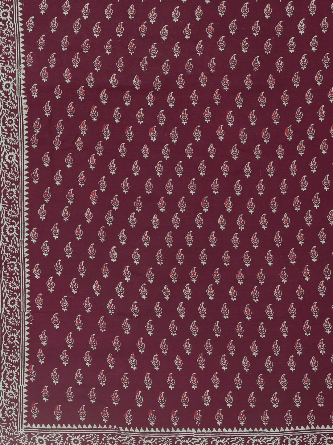 Burgundy Handblock Print Chanderi Cotton Sare-Saree-Kalakari India-BHKPSA0054-Cotton, Dabu, Geographical Indication, Hand Blocks, Hand Crafted, Heritage Prints, Indigo, Natural Dyes, Sarees, Sustainable Fabrics-[Linen,Ethnic,wear,Fashionista,Handloom,Handicraft,Indigo,blockprint,block,print,Cotton,Chanderi,Blue, latest,classy,party,bollywood,trendy,summer,style,traditional,formal,elegant,unique,style,hand,block,print, dabu,booti,gift,present,glamorous,affordable,collectible,Sari,Saree,printed, h