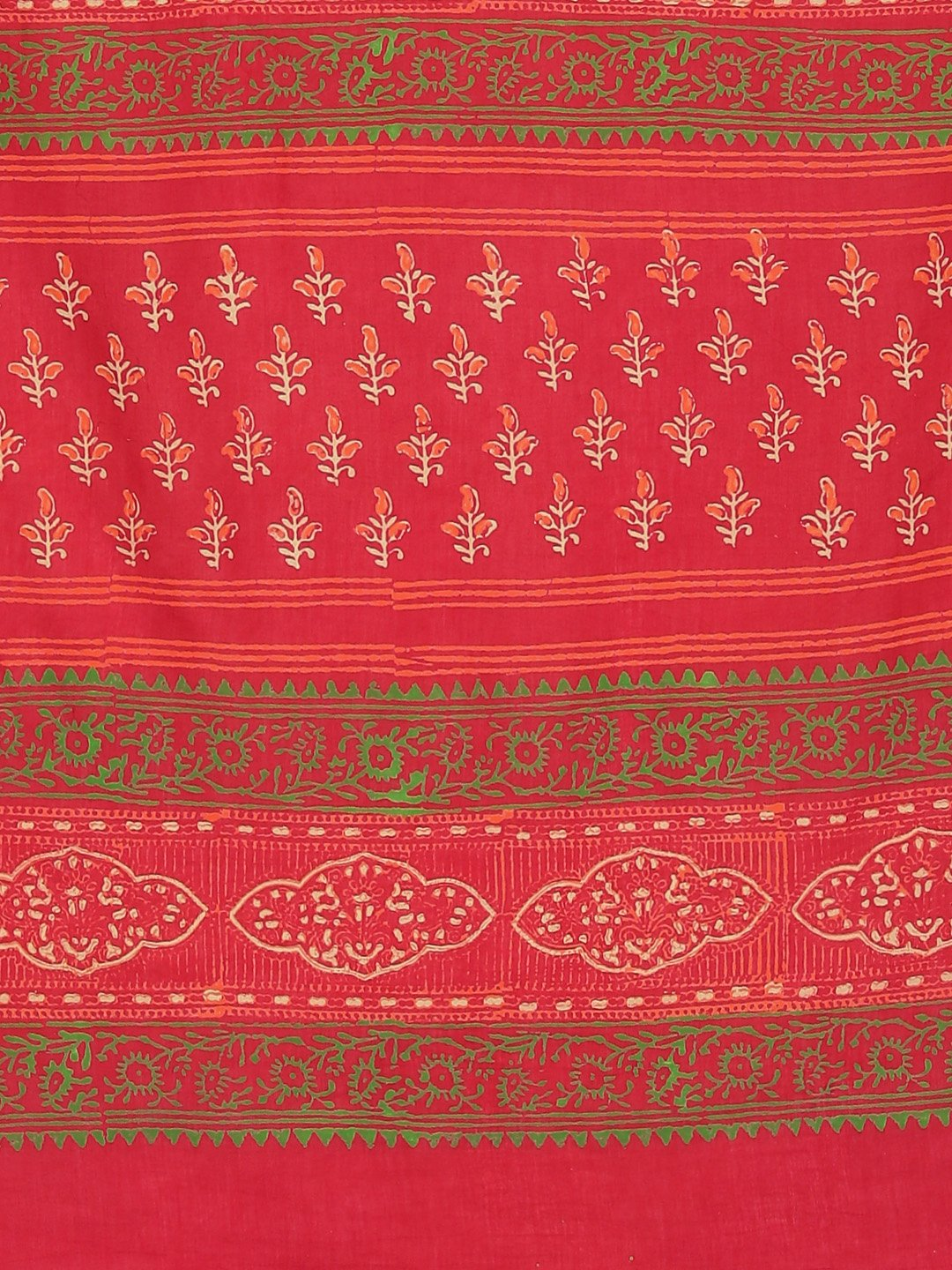 Red Beige Pure Handloom Dabu Handblock Print Bagru Saree-Saree-Kalakari India-BHKPSA0095-Cotton, Dabu, Geographical Indication, Hand Blocks, Hand Crafted, Heritage Prints, Indigo, Natural Dyes, Sarees, Sustainable Fabrics-[Linen,Ethnic,wear,Fashionista,Handloom,Handicraft,Indigo,blockprint,block,print,Cotton,Chanderi,Blue, latest,classy,party,bollywood,trendy,summer,style,traditional,formal,elegant,unique,style,hand,block,print, dabu,booti,gift,present,glamorous,affordable,collectible,Sari,Saree