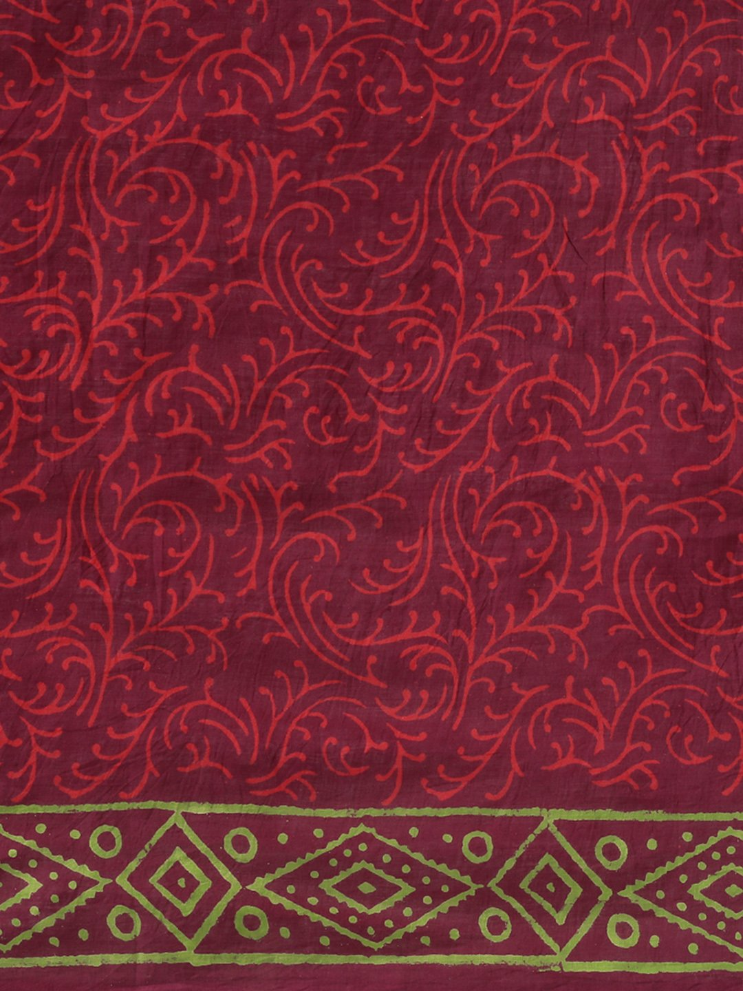 Burgundy Handblock Print Bagru Saree-Saree-Kalakari India-BHKPSA0113-Cotton, Geographical Indication, Hand Blocks, Hand Crafted, Heritage Prints, Sanganeri, Sarees, Sustainable Fabrics-[Linen,Ethnic,wear,Fashionista,Handloom,Handicraft,Indigo,blockprint,block,print,Cotton,Chanderi,Blue, latest,classy,party,bollywood,trendy,summer,style,traditional,formal,elegant,unique,style,hand,block,print, dabu,booti,gift,present,glamorous,affordable,collectible,Sari,Saree,printed, holi, Diwali, birthday, ann