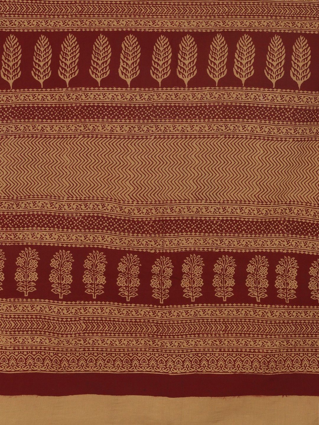 Brown Maroon Handblock Print Bagh Saree-Saree-Kalakari India-MRBASA0002-Bagh, Cotton, Geographical Indication, Hand Blocks, Hand Crafted, Heritage Prints, Natural Dyes, Sarees, Sustainable Fabrics-[Linen,Ethnic,wear,Fashionista,Handloom,Handicraft,Indigo,blockprint,block,print,Cotton,Chanderi,Blue, latest,classy,party,bollywood,trendy,summer,style,traditional,formal,elegant,unique,style,hand,block,print, dabu,booti,gift,present,glamorous,affordable,collectible,Sari,Saree,printed, holi, Diwali, b