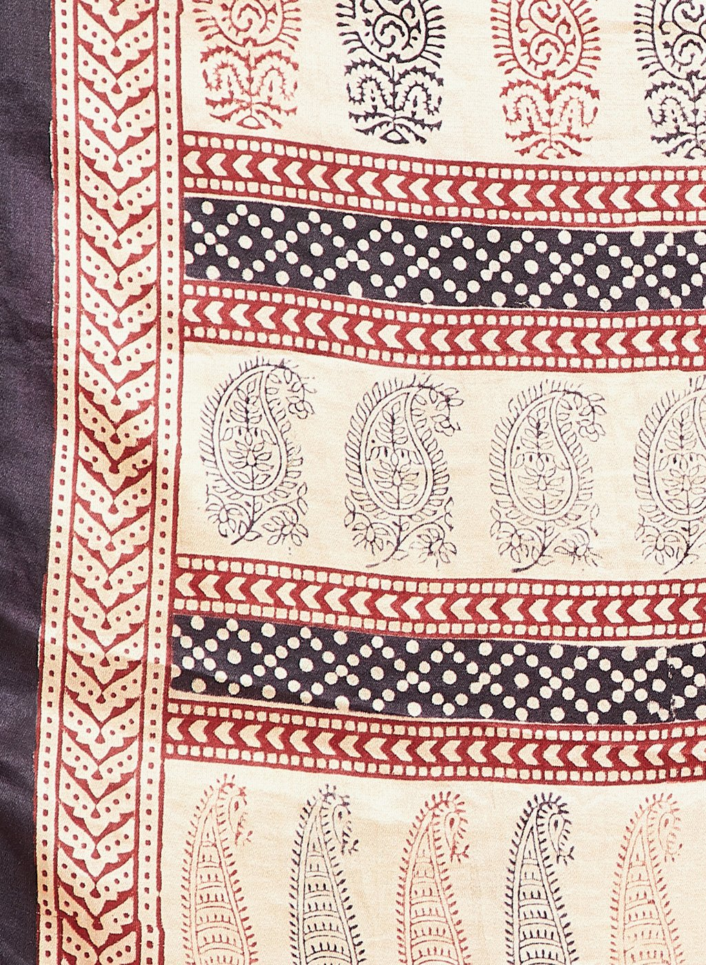 Exotic Gaji Silk Bagh Handblock Printed Scarf-Scarf-Kalakari India-MRBAST006-Bagh, Cruelty Free, Geographical Indication, Hand Blocks, Hand Crafted, Heritage Prints, Modal Silk, Natural Dyes, Scarf, Silk, Sustainable Fabrics, Vegan Silk-[Linen,Ethnic,wear,Fashionista,Handloom,Handicraft,Indigo,blockprint,block,print,Cotton,Chanderi,Blue, latest,classy,party,bollywood,trendy,summer,style,traditional,formal,elegant,unique,style,hand,block,print, dabu,booti,gift,present,glamorous,affordable,collect