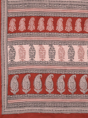 Pink Maroon Handblock Print Saree-Saree-Kalakari India-MYBASA0002-Bagh, Cotton, Geographical Indication, Hand Blocks, Hand Crafted, Heritage Prints, Natural Dyes, Sarees, Sustainable Fabrics-[Linen,Ethnic,wear,Fashionista,Handloom,Handicraft,Indigo,blockprint,block,print,Cotton,Chanderi,Blue, latest,classy,party,bollywood,trendy,summer,style,traditional,formal,elegant,unique,style,hand,block,print, dabu,booti,gift,present,glamorous,affordable,collectible,Sari,Saree,printed, holi, Diwali, birthda