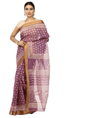 Burgundy Sanganeri Block Print Cotton Kota Doria Supernet Handcrafted Saree-Saree-Kalakari India-RDSNSA0006-Geographical Indication, Hand Blocks, Hand Crafted, Heritage Prints, Kota Doria, Sanganeri, Sarees, Sustainable Fabrics-[Linen,Ethnic,wear,Fashionista,Handloom,Handicraft,Indigo,blockprint,block,print,Cotton,Chanderi,Blue, latest,classy,party,bollywood,trendy,summer,style,traditional,formal,elegant,unique,style,hand,block,print, dabu,booti,gift,present,glamorous,affordable,collectible,Sari