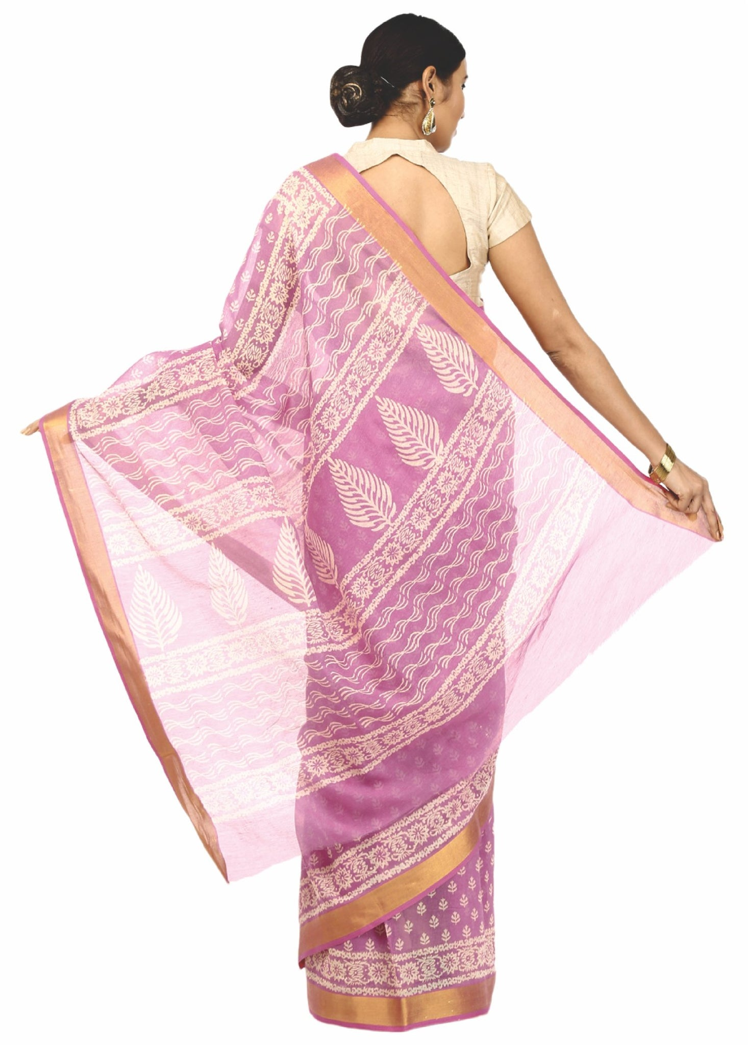 Pink Sanganeri Hand Block Print Cotton Kota DoriaSupernet Handcrafted Saree-Saree-Kalakari India-RDSNSA0018-Geographical Indication, Hand Blocks, Hand Crafted, Heritage Prints, Kota Doria, Sanganeri, Sarees, Sustainable Fabrics-[Linen,Ethnic,wear,Fashionista,Handloom,Handicraft,Indigo,blockprint,block,print,Cotton,Chanderi,Blue, latest,classy,party,bollywood,trendy,summer,style,traditional,formal,elegant,unique,style,hand,block,print, dabu,booti,gift,present,glamorous,affordable,collectible,Sari