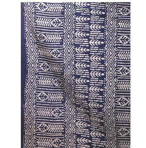 Navy Blue Batik Hand Block Print Handcrafted Cotton Saree-Saree-Kalakari India-RDSNSA0034-Batik, Cotton, Geographical Indication, Hand Blocks, Hand Crafted, Heritage Prints, Sarees, Sustainable Fabrics-[Linen,Ethnic,wear,Fashionista,Handloom,Handicraft,Indigo,blockprint,block,print,Cotton,Chanderi,Blue, latest,classy,party,bollywood,trendy,summer,style,traditional,formal,elegant,unique,style,hand,block,print, dabu,booti,gift,present,glamorous,affordable,collectible,Sari,Saree,printed, holi, Diwa