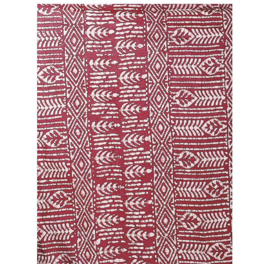 Red Batik Hand Block Print Handcrafted Cotton Saree-Saree-Kalakari India-RDSNSA0043-Batik, Cotton, Geographical Indication, Hand Blocks, Hand Crafted, Heritage Prints, Sarees, Sustainable Fabrics-[Linen,Ethnic,wear,Fashionista,Handloom,Handicraft,Indigo,blockprint,block,print,Cotton,Chanderi,Blue, latest,classy,party,bollywood,trendy,summer,style,traditional,formal,elegant,unique,style,hand,block,print, dabu,booti,gift,present,glamorous,affordable,collectible,Sari,Saree,printed, holi, Diwali, bi