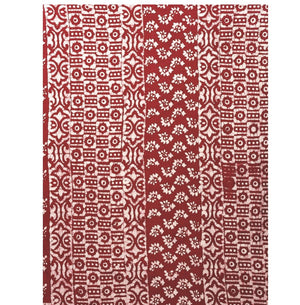 Red Batik Hand Block Print Handcrafted Cotton Saree-Saree-Kalakari India-RDSNSA0047-Batik, Cotton, Geographical Indication, Hand Blocks, Hand Crafted, Heritage Prints, Sarees, Sustainable Fabrics-[Linen,Ethnic,wear,Fashionista,Handloom,Handicraft,Indigo,blockprint,block,print,Cotton,Chanderi,Blue, latest,classy,party,bollywood,trendy,summer,style,traditional,formal,elegant,unique,style,hand,block,print, dabu,booti,gift,present,glamorous,affordable,collectible,Sari,Saree,printed, holi, Diwali, bi