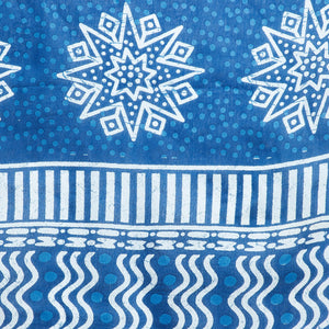 Blue Indigo Screen Print Handcrafted Cotton Saree-Saree-Kalakari India-RDSNSA0106-Cotton, Geographical Indication, Hand Blocks, Hand Crafted, Heritage Prints, Indigo, Sarees, Screen Print, Sustainable Fabrics-[Linen,Ethnic,wear,Fashionista,Handloom,Handicraft,Indigo,blockprint,block,print,Cotton,Chanderi,Blue, latest,classy,party,bollywood,trendy,summer,style,traditional,formal,elegant,unique,style,hand,block,print, dabu,booti,gift,present,glamorous,affordable,collectible,Sari,Saree,printed, hol