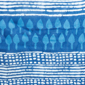 Blue Indigo Screen Print Handcrafted Cotton Saree-Saree-Kalakari India-RDSNSA0110-Cotton, Geographical Indication, Hand Blocks, Hand Crafted, Heritage Prints, Indigo, Sarees, Screen Print, Sustainable Fabrics-[Linen,Ethnic,wear,Fashionista,Handloom,Handicraft,Indigo,blockprint,block,print,Cotton,Chanderi,Blue, latest,classy,party,bollywood,trendy,summer,style,traditional,formal,elegant,unique,style,hand,block,print, dabu,booti,gift,present,glamorous,affordable,collectible,Sari,Saree,printed, hol