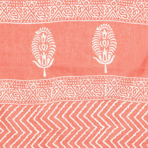 Orange & Grey dabu handblock Print Handcrafted Cotton Saree-Saree-Kalakari India-RDSNSA0113-Cotton, Geographical Indication, Hand Blocks, Hand Crafted, Heritage Prints, Sanganeri, Sustainable Fabrics-[Linen,Ethnic,wear,Fashionista,Handloom,Handicraft,Indigo,blockprint,block,print,Cotton,Chanderi,Blue, latest,classy,party,bollywood,trendy,summer,style,traditional,formal,elegant,unique,style,hand,block,print, dabu,booti,gift,present,glamorous,affordable,collectible,Sari,Saree,printed, holi, Diwali