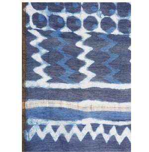 Navy Blue & White Chanderi Silk Hand Block Print Handcrafted Saree-Saree-Kalakari India-RDSWSA0075-Chanderi, Geographical Indication, Hand Blocks, Hand Crafted, Heritage Prints, Indigo, Sarees, Sustainable Fabrics-[Linen,Ethnic,wear,Fashionista,Handloom,Handicraft,Indigo,blockprint,block,print,Cotton,Chanderi,Blue, latest,classy,party,bollywood,trendy,summer,style,traditional,formal,elegant,unique,style,hand,block,print, dabu,booti,gift,present,glamorous,affordable,collectible,Sari,Saree,printed