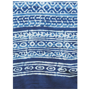 Blue & White Indigo Hand Block Print Handcrafted Cotton Saree-Saree-Kalakari India-RDSWSA0091-Cotton, Geographical Indication, Hand Blocks, Hand Crafted, Heritage Prints, Indigo, Sarees, Sustainable Fabrics-[Linen,Ethnic,wear,Fashionista,Handloom,Handicraft,Indigo,blockprint,block,print,Cotton,Chanderi,Blue, latest,classy,party,bollywood,trendy,summer,style,traditional,formal,elegant,unique,style,hand,block,print, dabu,booti,gift,present,glamorous,affordable,collectible,Sari,Saree,printed, holi,